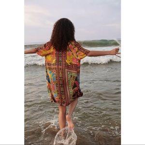 FARM Rio Anthropologie Grazia Toucan Mini Dress